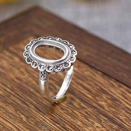 Argentina 7x12mm Oval Cabochon Semi Mount Ring 925 Sterling Silver Art Nouveau Vintage Ajuste de anillo de plata fina cheap sterling silver ring semi mounts Suministro