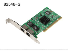 Wholesale Dual Port Network Card - Wholesale- DIEWU 82546-S Intel82546 Network Adapter Card Intel Dual-port 8492MT Gigabit Ethernet PCI Server 1000Mbps NIC Support PXE