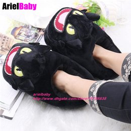 Wholesale Toothless Dragon Plush Toy - New 2pcs=1 Pair Toothless Dragon Cosplay Toys Soft Plush Slipper Night Fury Indoor Warm Shoes How to Train Your Dragon Birthday Gift