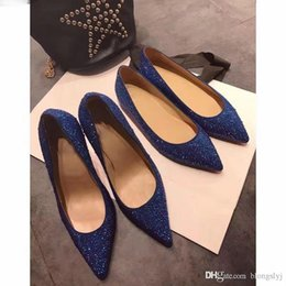 Wholesale Spring Metal Pointed - Luxury Brand High-end Custom Metal Studded Spikes Christian Red Bottoms Shoes for Women with Soft Bottom,Genuine Leather Shoes