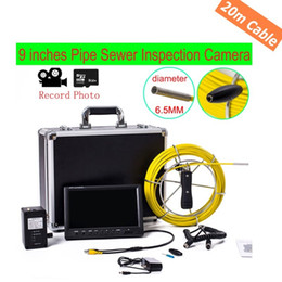 "Wholesale Sewer Drain Video Inspection Camera - free shipping WP90 20M Pipe Drain Sewer Inspection Camera System & Wall endoscope 9"" LCD DVR Function underwater Snake Video Camera ANN"