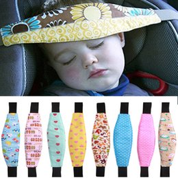 Wholesale travel seat belt - Fashion Baby Car Seat Sleep Adjustable Belt Nap Aid Safety Head Support Band Holder For Travel Kids Protector