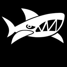 Wholesale Marine Glue - Ferocious Marine Organisms Angry Shark Explore Car Sticker for Wall Camper Van Motorcycles Canoe Car Decor Vinyl Decal Car Styling Jdm