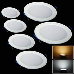 Wholesale Thin Spot Lights - Wholesale- DHL Free Ship 20pcs 9W Recessed LED Ceiling Light Ultra Thin LED Panel Down Light Spot Light + Drivers