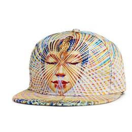 Hip hop tanz flache mütze online-3D Print Caps Buddha Muster Sport Designer Hüte Tanzen Flache Baseballmütze Frauen Männer Ausgestattet Hysteresenkappen Mode Baumwolle Hip Hop Caps