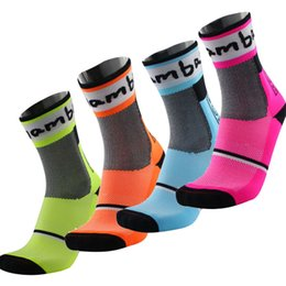 Wholesale outdoor hoses - Sports Socks For Men New Bmambas Nice Pattern Sailing Sock Outdoor Mountain Bike Non Slip Hose Good Comfort No Fading 8nc F