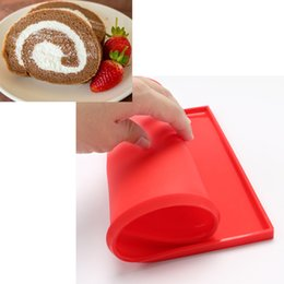 Wholesale Christmas Swiss Roll - Multi-purpose Silicone Oven Mat Cake Roll Maker Baking Mats Mould - Cake Swiss Roll Pad Bakeware Kitchen Baking Tools