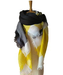 Deutschland DHL Fedex FREIES Verschiffen Winter Schal Frauen Decke Plaid Schal Weibliche Schals Und Schals Warme Frauen Kurze Quaste Tippet 28 farben Versorgung