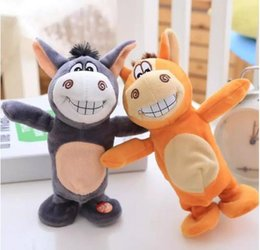 Wholesale Song Electronics - SMALL donkey electric dolls Twilight card new ideas will 25cm talk walking + recording +16 songs + laughterFREE SHIPPING
