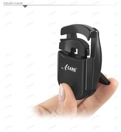 Wholesale- 1PCS ACARE Black Plastic Eyelash Curler Small Portable Eye Lash Curler with 6 Free Rubber Refill Pads for Eye  от