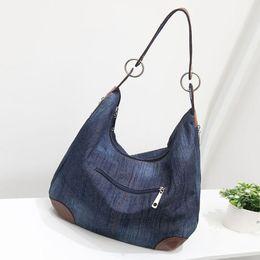 Wholesale Blue Jean Bag - Wholesale- 2016 New Fashion Large Luxury Handbags Women Bag Designer Ladies Hand bags Big Purses Jean Tote Denim Shoulder Crossbody F545