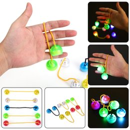 Wholesale New Lighting Toys - New Decompression Toy LED finger balls Yo-yo finger yoyo Skill toy Thumb Chucks Fidget Toys Bundle Control Roll Game Glow in Dark Finger