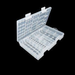 Wholesale 9v Aa Battery Holder - Useful Rack Transparent AAA AA C D 9V Hard Plastic Battery Case Holder Storage Box Battery classification Container