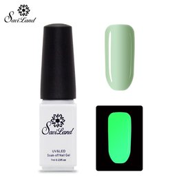 Wholesale Neon Lacquer - Wholesale-Saviland 1pcs Luminous Gel Nail Polish Fluorescent Gloss Gel Lacquer Neon Glow In Dark Long Lasting Nail Art UV LED Gel