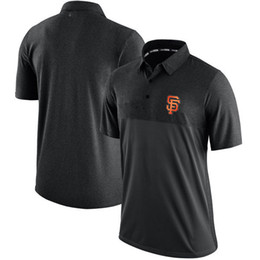 Wholesale Giant Collection - new styles of Men's San Francisco Giants Black Authentic Collection Elite Polo shirt,free shipping,all teams accept any size and mix order