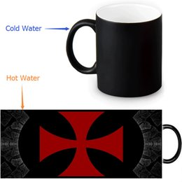 Wholesale Wholesale Custom Designs China - Wholesale- Knights Templar Cross Custom Made Design Water Coffee Mug Novelty Gift Mugs Morphing Ceramic Cup 12 OZ Office Home Cups