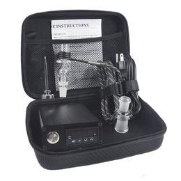 Argentina Banger E Uñas de cuarzo Clavo eléctrico Kit de caja de uñas de cuarzo Nail Carb Cap 14 18 MM Macho de temperatura controlador Bongs de cristal de la plataforma Suministro