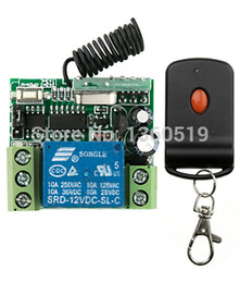 Wholesale Learning Switch Remote - Wholesale- Hot Sales DC12V 1CH 10A wireless remote control switch system teleswitch 1 transmitter & 1 receiver relay Learning Code