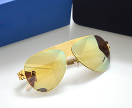 Wholesale Silver Screw Eye - new mykita sunglasses ultralight frame without screws Franz pilot frame flap top men brand designer sunglasses coating mirror lens