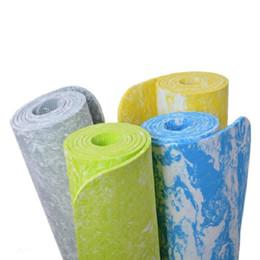 La stuoia di forma fisica di esercizio della stuoia di yoga antisdrucciolevole di TPE 6mm perde il peso La costruzione di corpo ecologica della stuoia di yoga di TPE libera il trasporto da stuoia yoga in viola fornitori