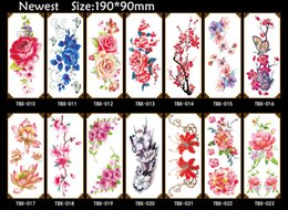 Wholesale Tattoos Hand For Kids - Fashion Sexy Flower Rose Waterproof Temporary Tattoo Sticker for Adults Kids Body Art Fake Women Tattoo New Design Water Transfer Tatoo