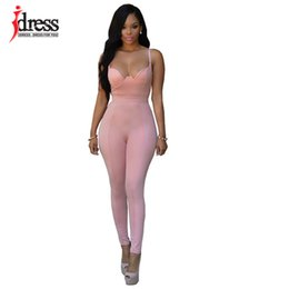 Wholesale Summer Rompers For Women - Wholesale- IDress Overalls for Women Bodycon Playsuit Rompers Womens Pants Jumpsuit 2016 Women Summer Bodysuit Rompers Womens Jumpsuit Sexy