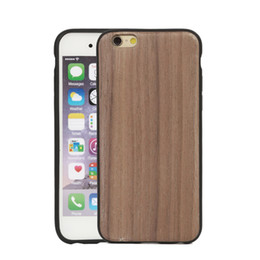 Wholesale Thin Cell Phones For Sale - On Sale Thinnest Wood Wooden phone cover Dirt-resistant Slim TPU Silicone Full protection cell phone case on sales
