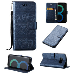 Wholesale S4 Flip Phone Cases - For Samsung Galaxy S3 S4 S5 S6 S7 Edge J3 J5 J7 A3 A5 2016 leather Wallet Phone Case Elephant Pattern Wallet Flip Cover Stand