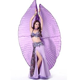 Wholesale Egyptian Wings - Angle Wings Egyptian Egypt Belly Dance Costume Accessories Isis Wings Indain Dance Stage Wear For Adult (No Stick) ZA1635