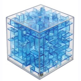 Wholesale Early Childhood - Wholesale- 2016 Transparent 6cm 4 Colors Maze Magic Cube Cubos Early Childhood Educational Intelligence Gift Magique Adult Kids Toy
