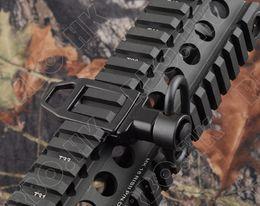 Wholesale Railings Steel - Gun sling swivels adapter picatinny rail mount all steel QD swivels hunting shooting M6243