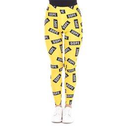 Wholesale Dope Knit - Girl Leggings DOPE 3D Digital Print Women Skinny Stretchy Jeggings Casual Yoga Pants Lady Sportwear Elastic Waist Band Trousers New (J42430)