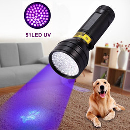 Wholesale Invisible Work - UV Ultra Violet Flashlight 8W 3XAA Aluminium Invisible Blacklight Ink Marker Scorpion Tactical Purple Light 51 LED Torch Light Lamp