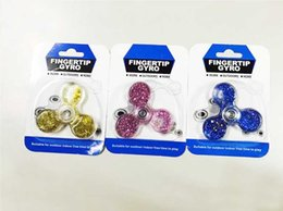 Wholesale Clover Movie - new Crystal flowing sand gyro fidget spinner clover crystal liquid fingertips HAND SPINNER gyro triangle fingertips gyro decompression toys