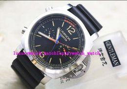 Wholesale Black Titanium Watch - PAM526 REGATTA 47mm TITANIUM CHRONO FLYBACK 1950 00526 Ltd Ed Silver Automatic Men's Watch Watches