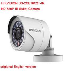 Canada Hikvision Original Version Anglaise DS-2CE16C2T-IR Caméra Bullet HD720P IR 1.3MP jusqu'à 20m Caméra CCTV résistante aux intempéries IP66 Offre
