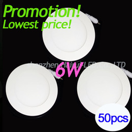 Wholesale Led Light Panel Promotion - Wholesale- 2015 Led panel lamp factory whole sale Lowest price for promotion 50pcs slot high quality natural 6W panel light round or square