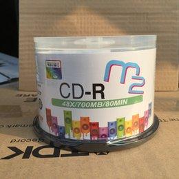 Wholesale Blank Barrel - Maxell M2 series can print CD-R 48 speed 700mb barrels of blank copy CD disk 50pcs lot