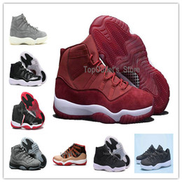 Wholesale New Shoes For Army - Original Box Wholesale Jump man Cheap New Air Retro 11 Velvet Heiress High Top Quality Mens Basketball Shoes Sneakers Running Shoe For Women