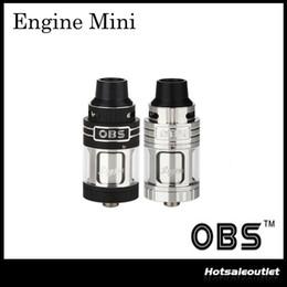 Wholesale Engine Mini - Authentic OBS Engine Mini RTA Tank Atomizer Side Filling & Full Glass Window OBS Engine Mini RTA Atomizer 100% Original
