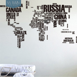 Wholesale Large World Map Countries Letters Names Educational Wallpapers Decals Mural Art Kids 116