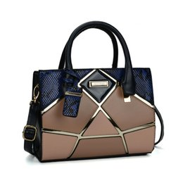 Wholesale High Quality Cell - New Arrival Female Handbags Elegant Tote Fashion Brand Designer Socialite Serpentine Stereotypes Shoulder Bags Patchwork High Quality SY2135
