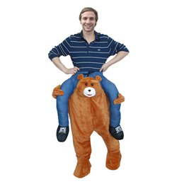 Wholesale Teddy Bear Mascots - HOT SELL RIDE ME PIGGY BACK RIDE ON NOVELTY TEDDY BEAR CARRY ME MASCOT FANCY DRESS OUTFIT