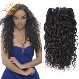 Wholesale Cheap Wavy Indian Remy Hair - Cheap Brazilian Virgin Hair Water Wave 3 Bundles Remy Human Hair Wet And Wavy Human Hair Bundles Mink Brazilian Weave Bundles