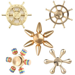 Wholesale Classic Style Wheels - New arrival 2017 Boat Rudder Hand Spinner Edc Decompression Toy Helmsman Fidget Spinner Steering Wheel Design Fidget Toy Classic Style