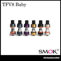 Wholesale Authentic SMOK TFV8 BABY Beast Tank with ML e Juice Capacity Cute Baby TFV8 Atomizer Surprise Her Original