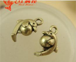 Wholesale Antique Dolphins - 15*14MM Antique bronze Zinc alloy metal pendant vintage dolphin charms nautical item mobile accessories wholesale retro jewelry