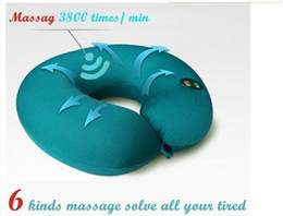 Wholesale Train Pillows - Hot Sell Portable Neck Rest Massager U Shape Electric Nap Pillow Massage for Home Office Train Plane Traveling