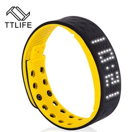 Wholesale Counting Calories - Wholesale-TTLIFE Smart Watch Bracelet Smartband Phone Pedometer Sleep Monitor Track Calories Burned Counting Alarm Clock Flex Fitness Band