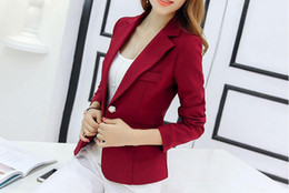 Wholesale Thin Blazers - new age season 2017 ms han edition cultivate one's morality fashion show thin suit jacket